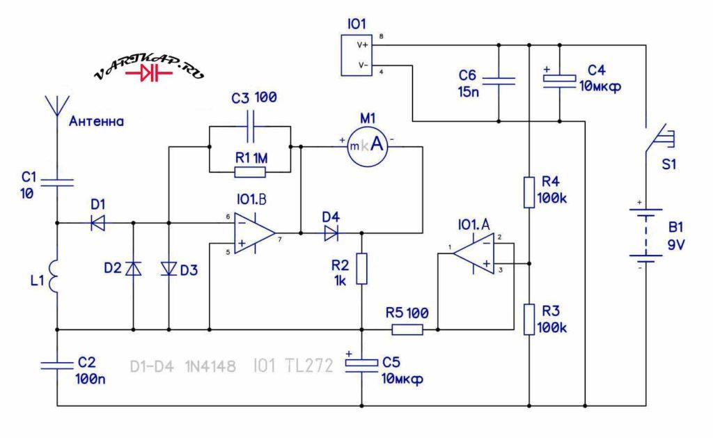 Индикатор электромагнитного поля