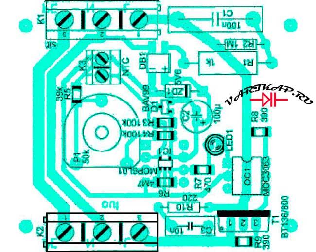 Расположение компонентов автоматическое включение циркуляционного насоса