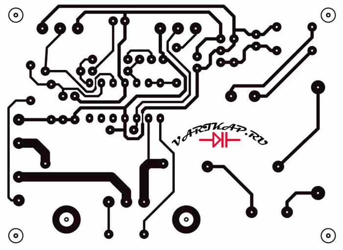 Разводка платы нагрузка-разрядник аккумулятора
