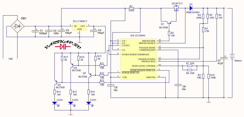 Зарядное устройство на микросхеме UC3906