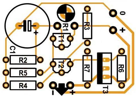 Расположение компонентов управление вентилятором в блоках питания