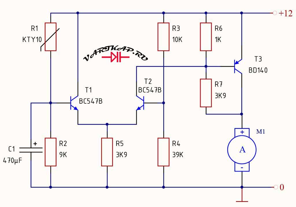 Управление вентилятором в блоках питания