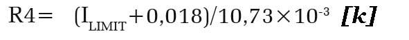 Формула ограничение тока (ILim)