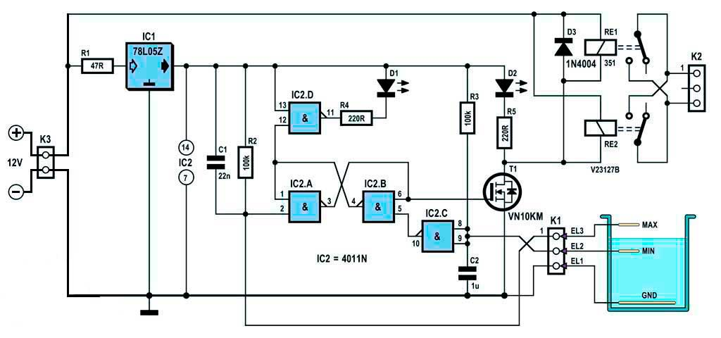 Контроллер насоса уровня жидкости